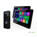 Memoria 7 pulgadas de seguridad doméstica de la intercomunicación de vídeo de lujo Doorphone interfonía