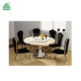 Encimera de mármol mesa de comedor Mesas de comedor juegos de mesa giratoria