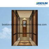 630kg de acero inoxidable espejo elevador de pasajeros con pasamanos