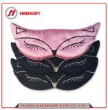 Fox de doble cara de máscara de Ojos de Seda La seda parche Elasticized ajustable la sombra de la máscara del sueño