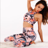 En Stock fabricante nuevo impresas por sublimación de Yoga Deportes pantalones y Tops