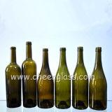 De groene Fles van de Wijn van het Ijs van de Druk van het Scherm van de Flessen van het Glas met Etiketten