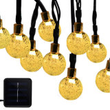 A luz de LED decorativas solar com luz de String