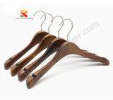 Роскошный широкий плечевой одежды вешалки деревянные вешалки