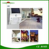 Exterior de acero inoxidable Sensor de movimiento PIR Lampara de pared Jardín de Luz Solar