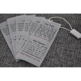 Hangtag blanco del papel de la cartulina para los accesorios de la ropa