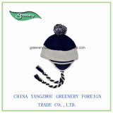 Выдвиженческий нормальный черный и померанцовый шлем Earflap зимы