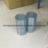 Malla de metal perforado galvanizado agujero de 1 mm para el cilindro del filtro