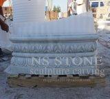 Fontana di acqua di marmo bianca con la ragazza per il giardino domestico Mf048
