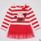 Le printemps de 2014 Le nouveau Commerce Coton d'usure d'enfants Han Edition Stripe T-Shirt à manches longues robes