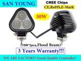 luz de conducción del CREE LED de los automóviles de 3inch 30W para el funcionamiento y la conducción campo a través del jeep SUV ATV UTV del carro de la motocicleta