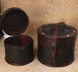 Caja de madera Circular Vintage