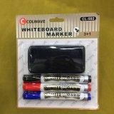 Пер отметки C-882 3+1 Whiteboard с щеткой, комплектом канцелярских принадлежностей