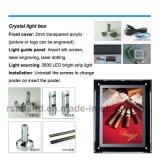 Cristal LED Display Light Box pour la publicité