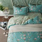 Drievoudig Textiel Katoenen van 100% Beddegoed Van uitstekende kwaliteit die voor Huis/de Reeks van het Beddegoed van de Dekking van het Dekbed van het Dekbed van het Hotel wordt geplaatst
