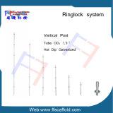 Padrões verticais verticais do borne do andaime do fechamento do anel