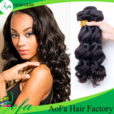 Extensão não processada do cabelo humano do cabelo do Virgin da onda do corpo da forma