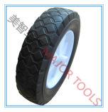 8X1.75 roda de borracha maciça com carrinhos de cubo de deslocamento
