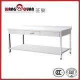 Table de travail en acier inoxydable 2 Undershelf & Tier avec 1 tiroir