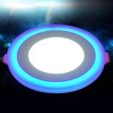Круглое Blue+White утопило (12+6) свет панели w СИД