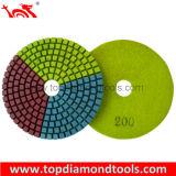 Diamond Polishing Pads with Three Color