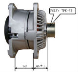 12V 136A Alternator voor Bosch Dodge Lester 11233 0124525111