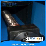 Folha que carimba a máquina cortando do laser
