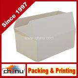 Pappe-weißer Imbiß Tragen-heraus Kasten (130001)