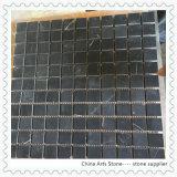 Schwarze Marquina Marmorsteinmosaik-Fliese für Wand-Dekoration