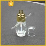 30ml 50ml Crème cosmétique Sunscreen Lotion bouteille en verre avec pompe
