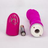 Хорошее соотношение цена розового цвета Фиолетовый безопасного силикона любви средний размер анального вибратора с аккумуляторной батареи