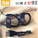 Cuffia portabile senza fili di Bluetooth di sport nero