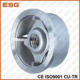 Tipo válvula da bolacha de controle do aço inoxidável da verificação do disco