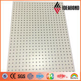Ideabond 1220*2440mm 백색 색깔 구멍을 뚫기를 가진 알루미늄 관통되는 정면 위원회