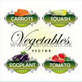 Étiquettes personnalisées de légume d'impression