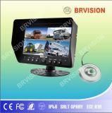 Système de surveillance de bus / 7inch Quad Split Monitor de voiture / caméra de plafond