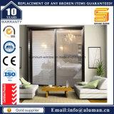 Portes coulissantes et se pliantes intérieures/extérieures d'aluminium/aluminium de patio de garantie en verre