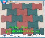 Tegels van de Vloer van de levering de Kleurrijke Rubber, Playground Rubber Tegels Outdoor Rubber RubberTegel van de Gymnastiek van de Tegel van de tegel de Kringloop Rubber
