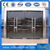 Скалистый внутрь и наружу открытие пружина заземления Framless стекле распашной двери