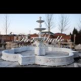 Grande fontana di pietra di marmo bianca di Carrara per la mobilia Mf-1044 del giardino