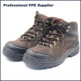 Ботинки безопасности высокого качества кожи замши впрыски PU