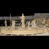Fontaine de sculpture en or de désert pour la décoration à la maison Mf-1014