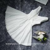 Vestido curto elegante Sleeveless da dama de honra do partido de noite dos plissados Chiffon das mulheres