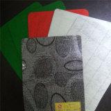 Color simple con revestimiento de fieltro de PVC rojo / verde