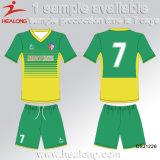 ロゴの染料の昇華サッカージャージーの普及した衣類