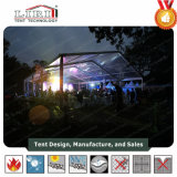 Tenda trasparente per l'esposizione provvisoria esterna di cerimonia nuziale