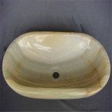 Super decorativo Onyx de calidad lavabo de mármol/.