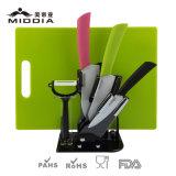 Bloco de facas definido com Peeler e Tabuleiro de cortar para utensílios de cozinha