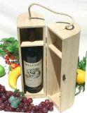 Boîte en bois personnalisée à extrémité élevé à vin rouge avec le prix meilleur marché
