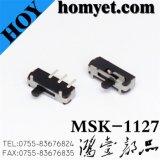 Interruptor de corrediça do fabricante SMD com Pin 3 (MSK-1127)